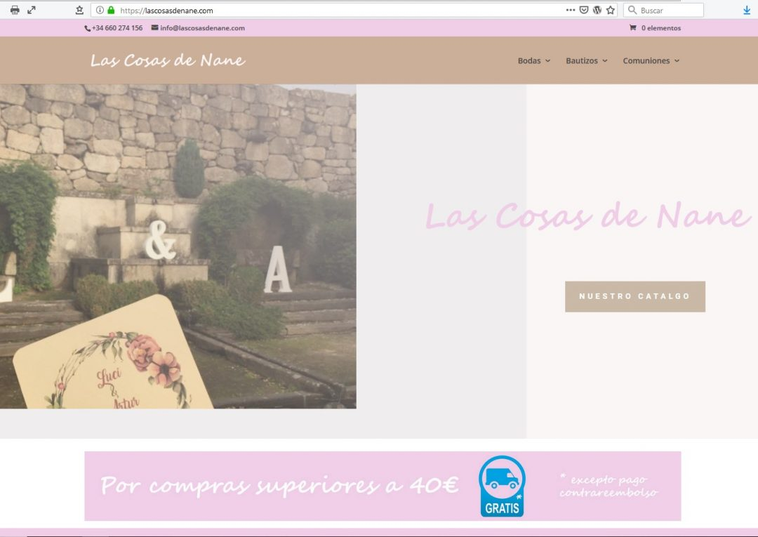 Tienda On-line Las Cosas de Nane